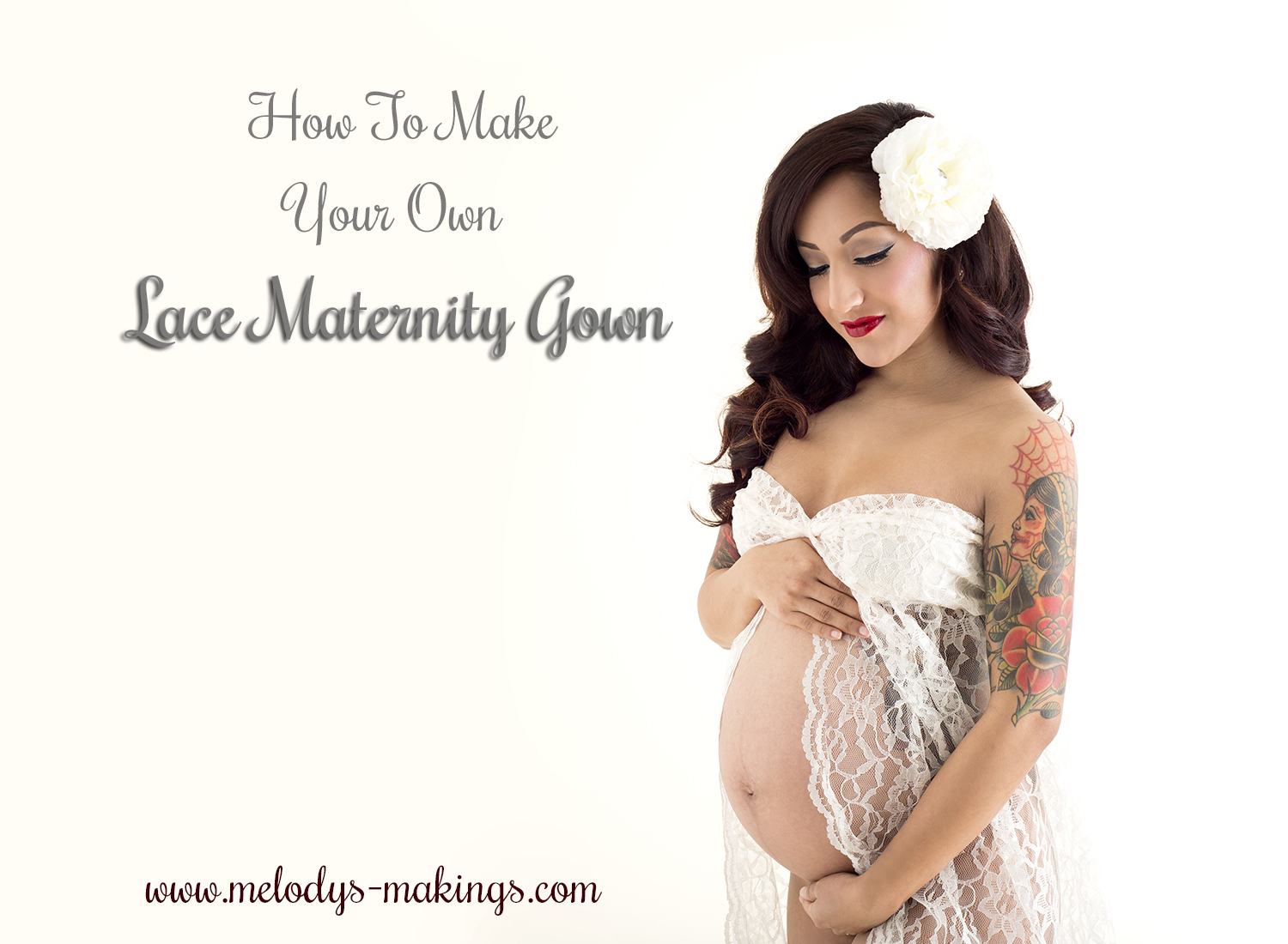 Make Your Own Lace Maternity Gown (A Photographer's Dream ...