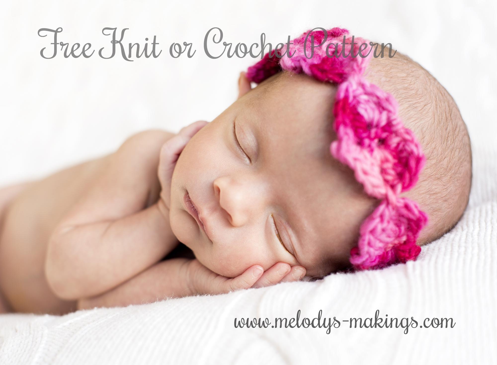 Free Knit or Crochet Heart Headband Pattern   Melody\'s Makings