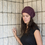 Slouchy Cabled Hat Crochet