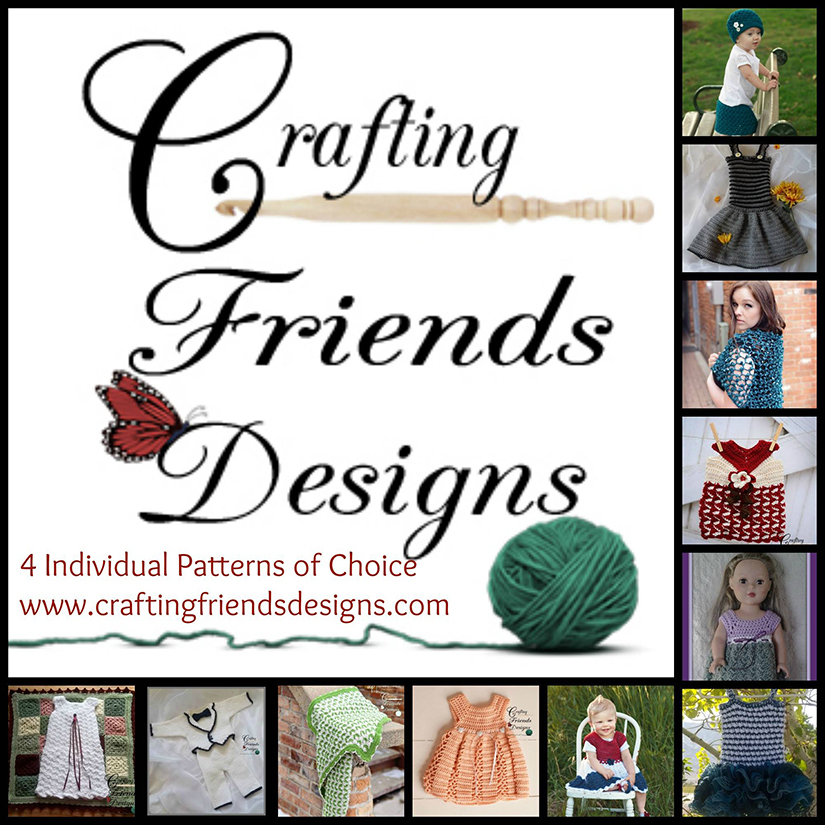 Crafting Friends - 4 Patterns of Choice