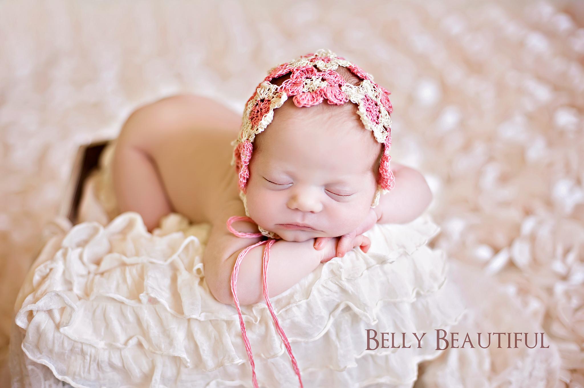 Heirloom Thread Flower Bonnet Baby Crochet Pattern | Melody\'s Makings