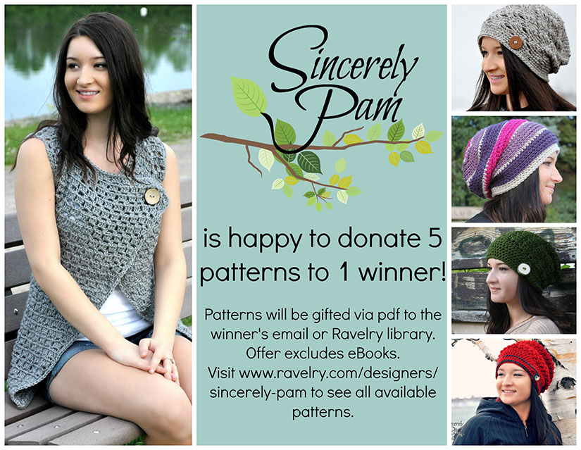 Sincerely Pam - 5 Patterns to 1 winner