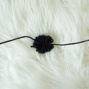 Crochet embellishment pom pom
