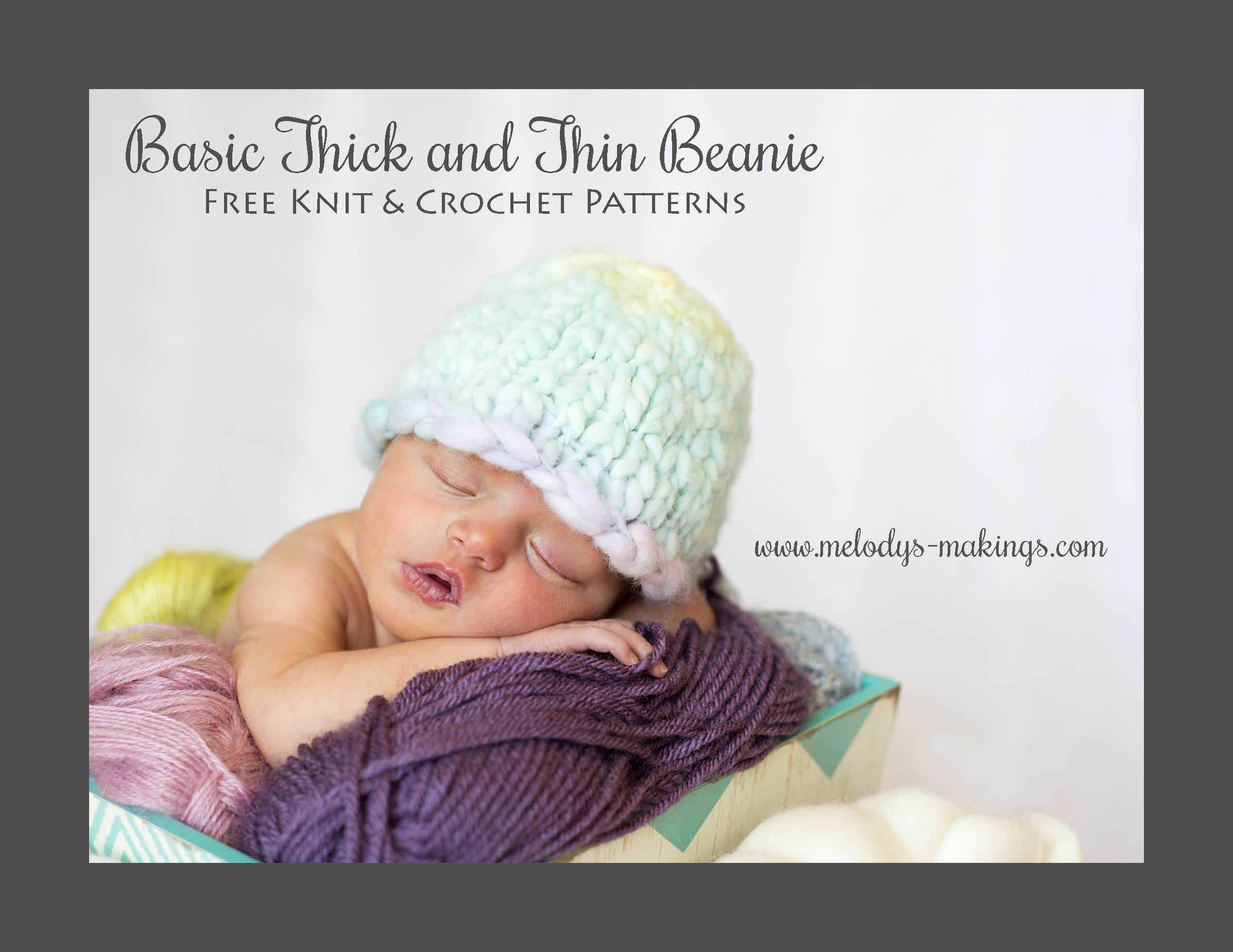 Basic Thick and Thin Beanie ~ Free Pattern   Melody\'s Makings