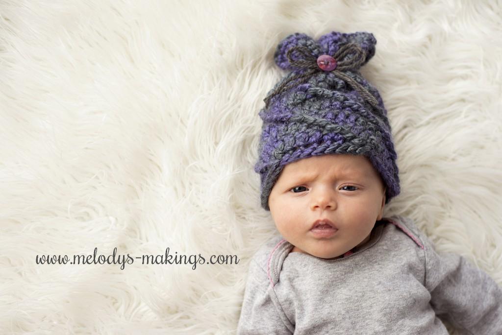 Free Baby Sack Hat Crochet Pattern