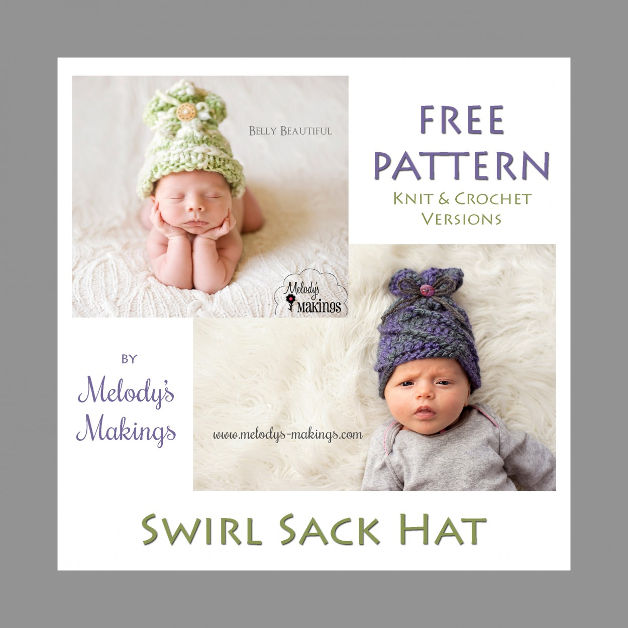 Swirl Sack Hat – Free Pattern | Melody\'s Makings