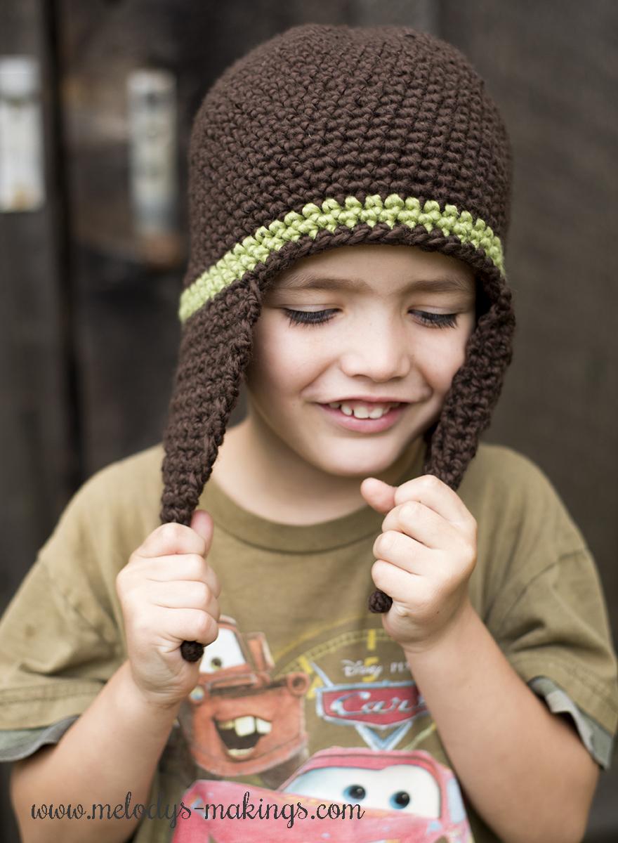 i-cord earflap hat crochet 2