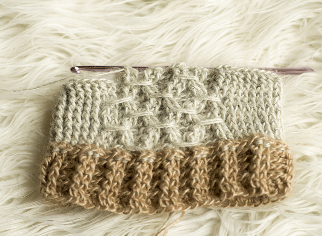 Crochet Stitches Instructions For Front-Post Double Crochet : Front Post Double Crochet last two sts to complete Smock Stitch