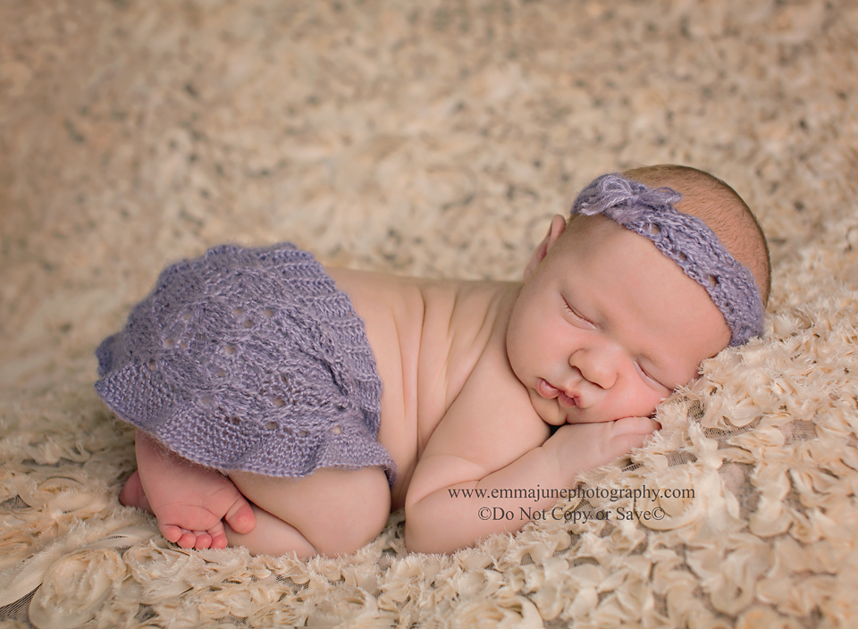 crochet Skirt and headband set on baby