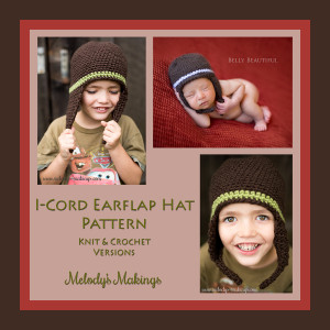 I-Cord Earflap Hat Pattern - Free Knit & Crochet Versions