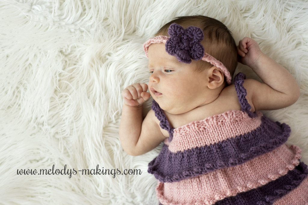 Ruffly, Girly Baby Shirt Knit Pattern