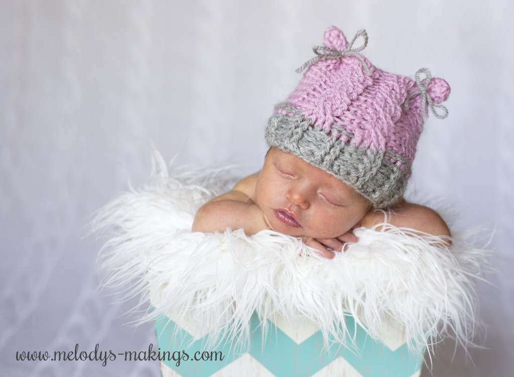 Cabled Bear Hat Crochet Pattern by Melody's Makings. Sizes Preemie through 1-3 Years included.