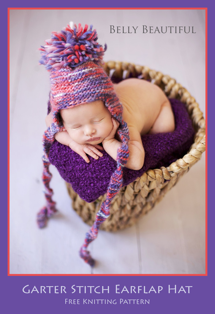 Garter Stitch Earflap Hat Free Pattern Photo