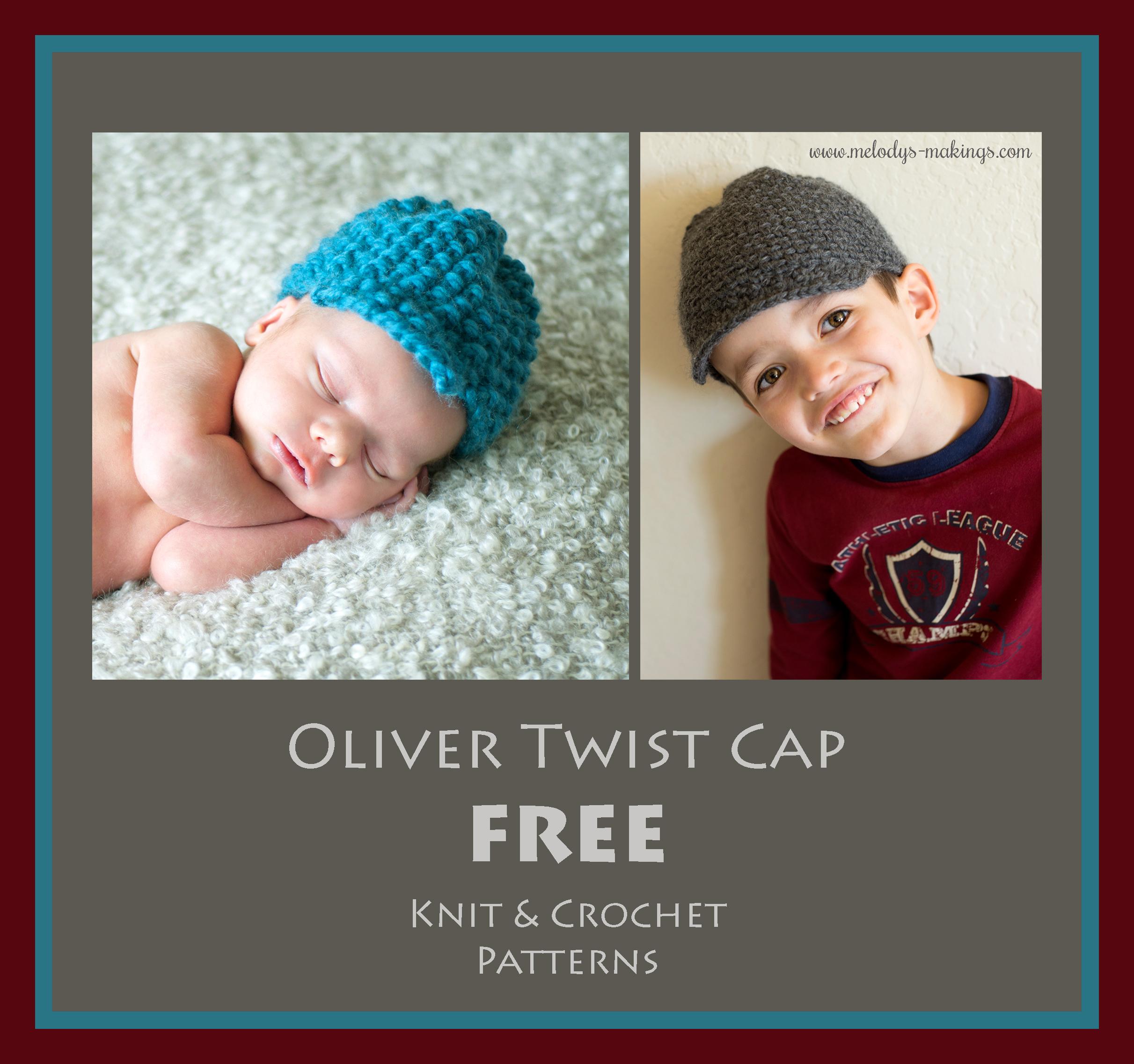 Oliver Twist Cap – Free Crochet & Knit Patterns! | Melody\'s Makings