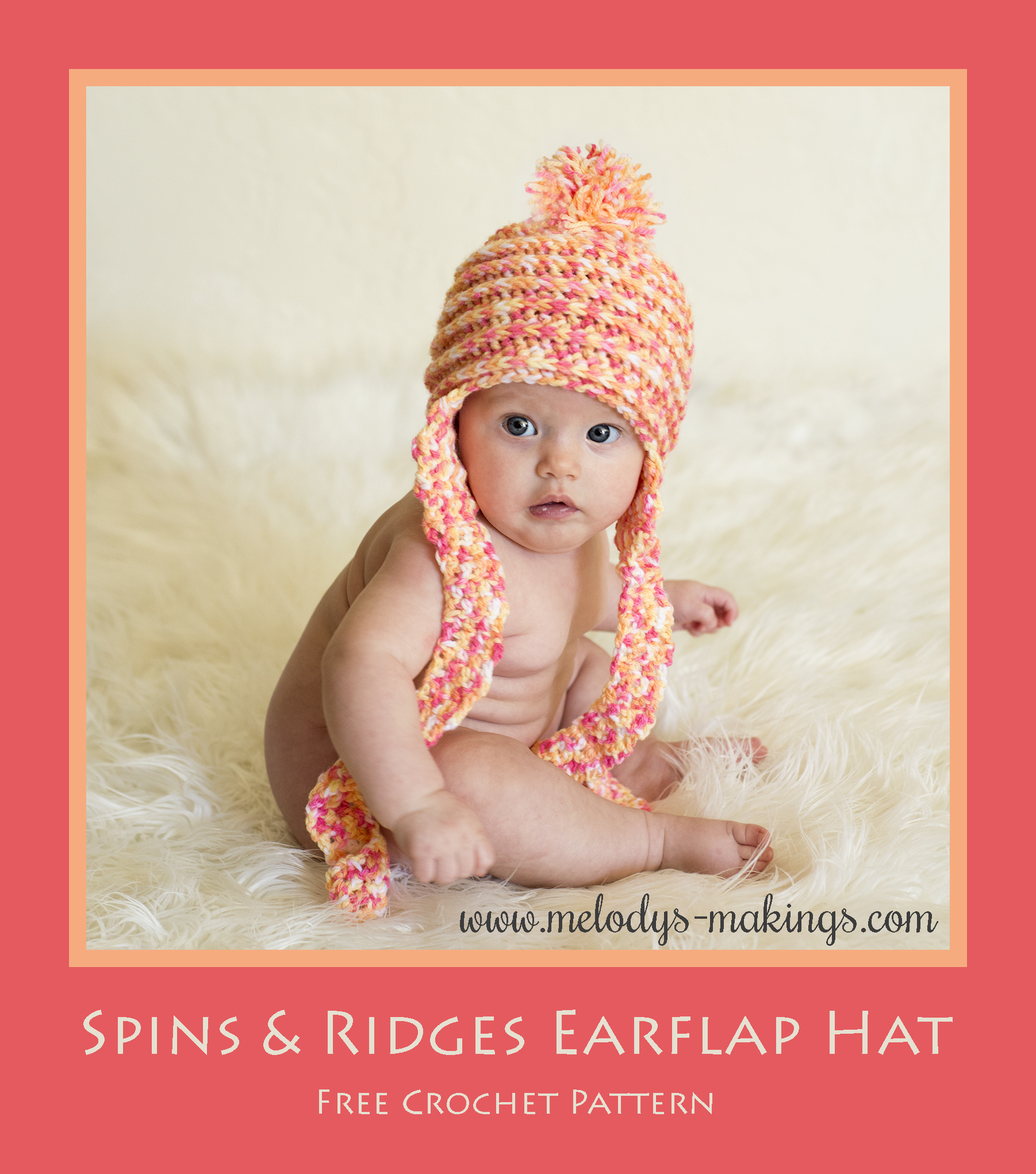 691227d4740 Spins and Ridges Crochet Pattern 2. Spins and Ridges Earflap Hat. Free  Crochet Pattern!