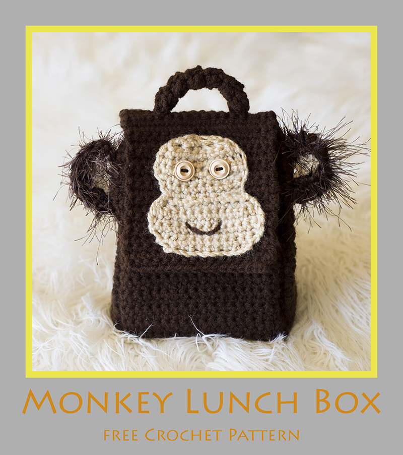 Monkey Lunch Box - Free Crochet Pattern