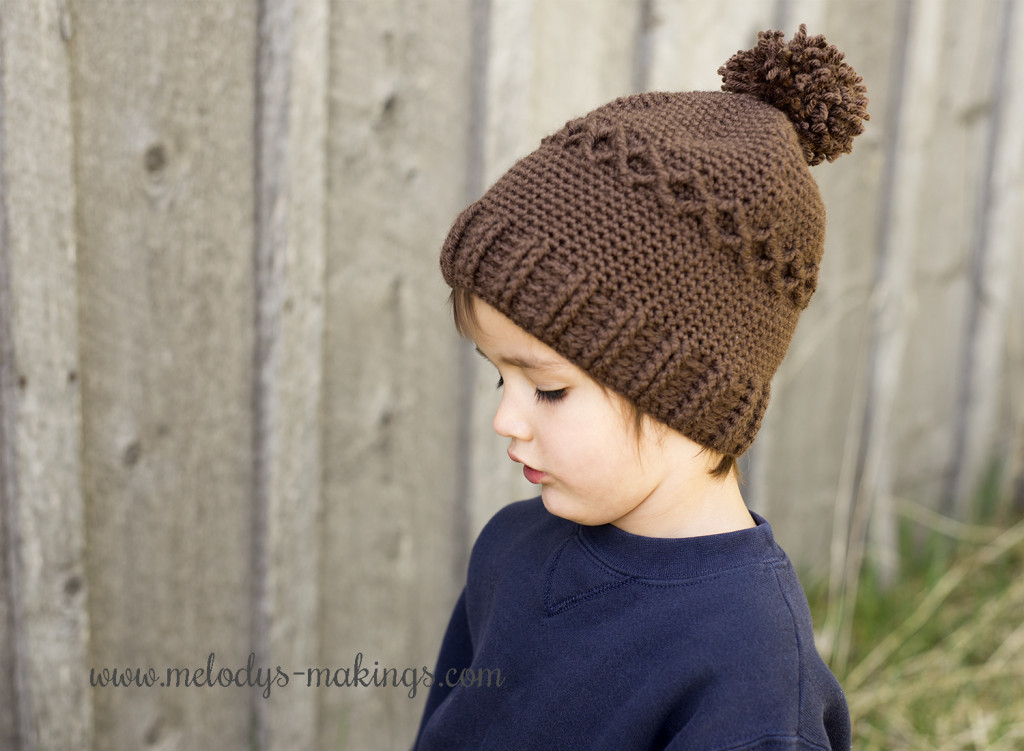 Diamond Slouchy Cap Free Crochet Pattern - Small