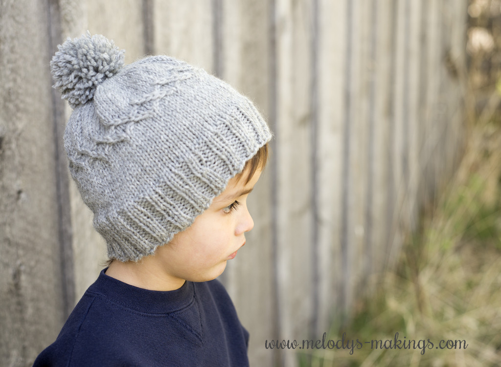 Diamond Slouchy Cap Free Knit Pattern - Small