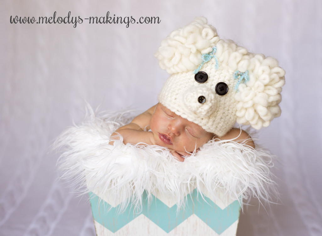 crochet poodle hat