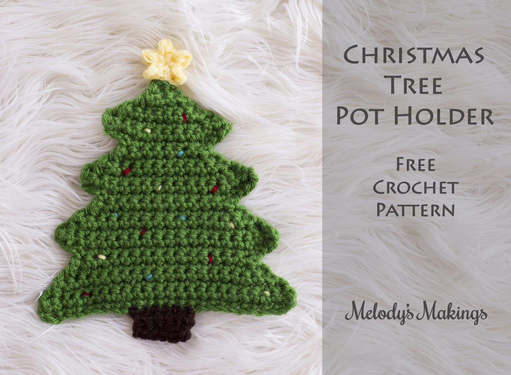 Christmas Tree Pot Holder Pattern (Crochet & Knit