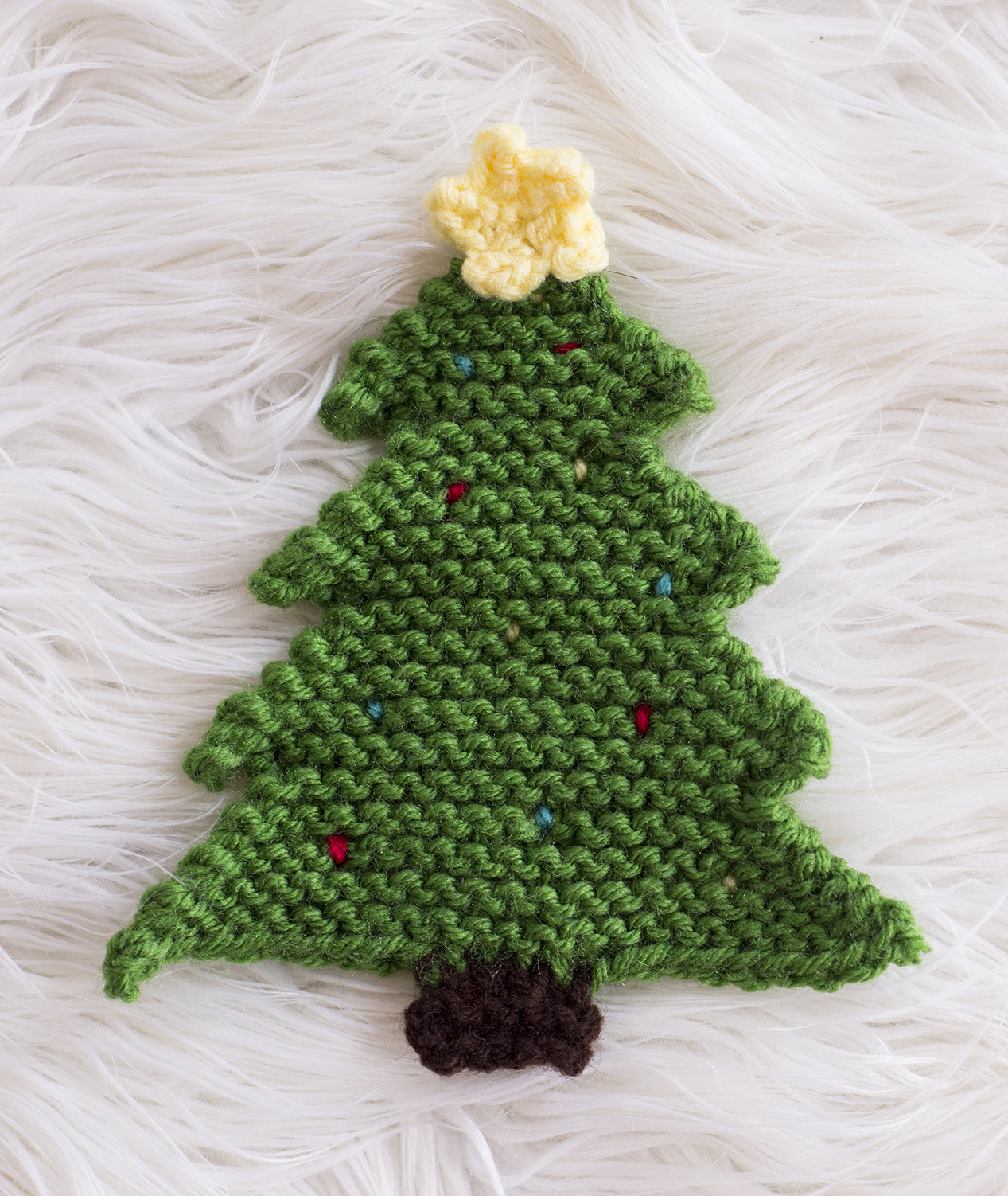 christmas tree pot holder pattern crochet knit melodys makings