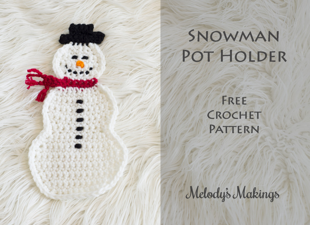 Snowman Pot Holder Crochet