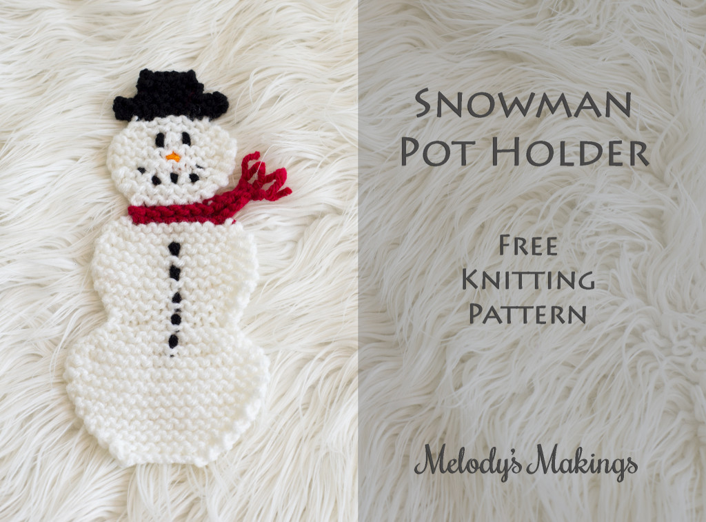 Snowman Pot Holder Knit