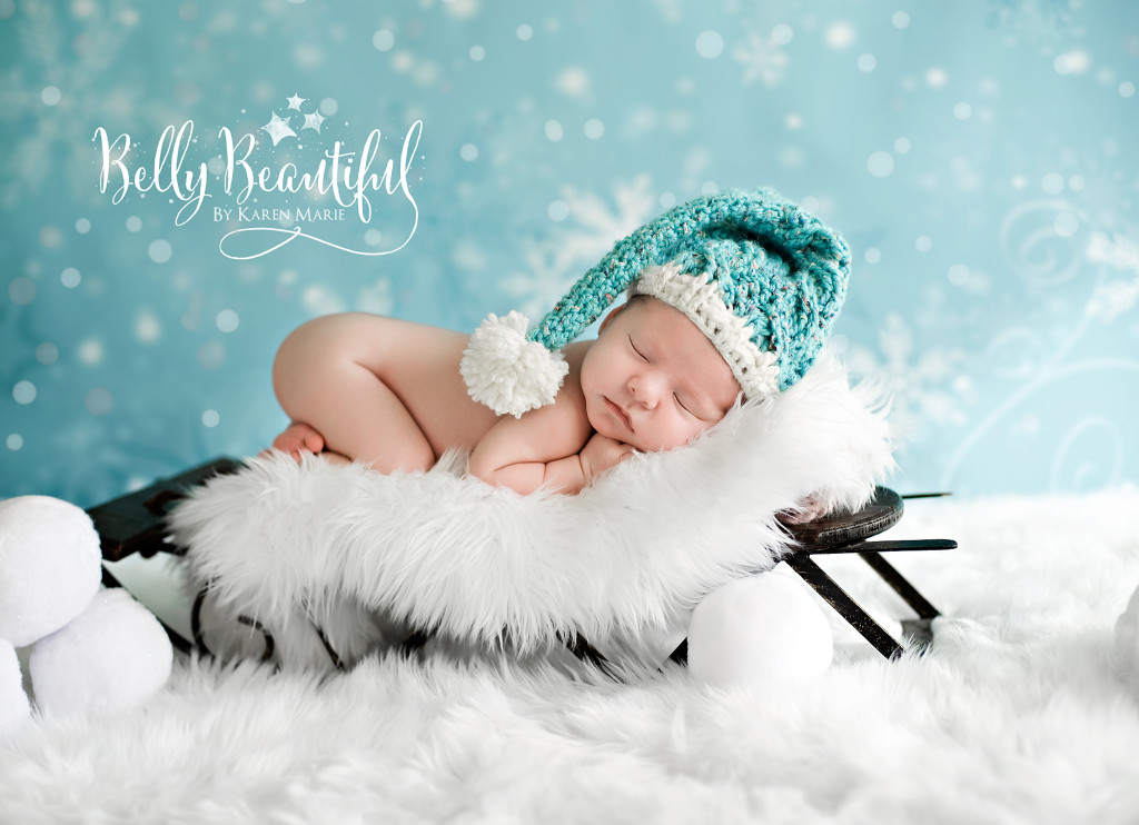 Crochet Sleep Cap on Baby