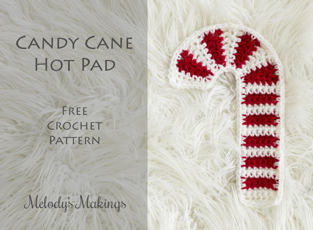 Candy Cane Hot Pad Free Crochet Pattern