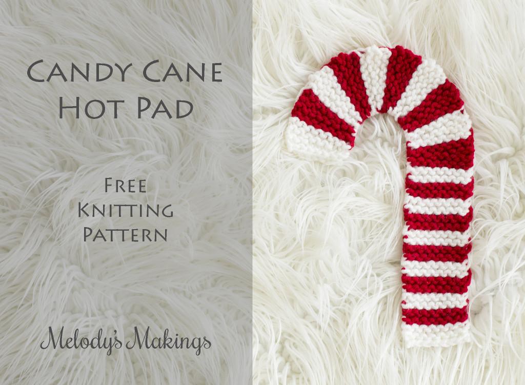 Candy Cane Hot Pad Free Knit Pattern
