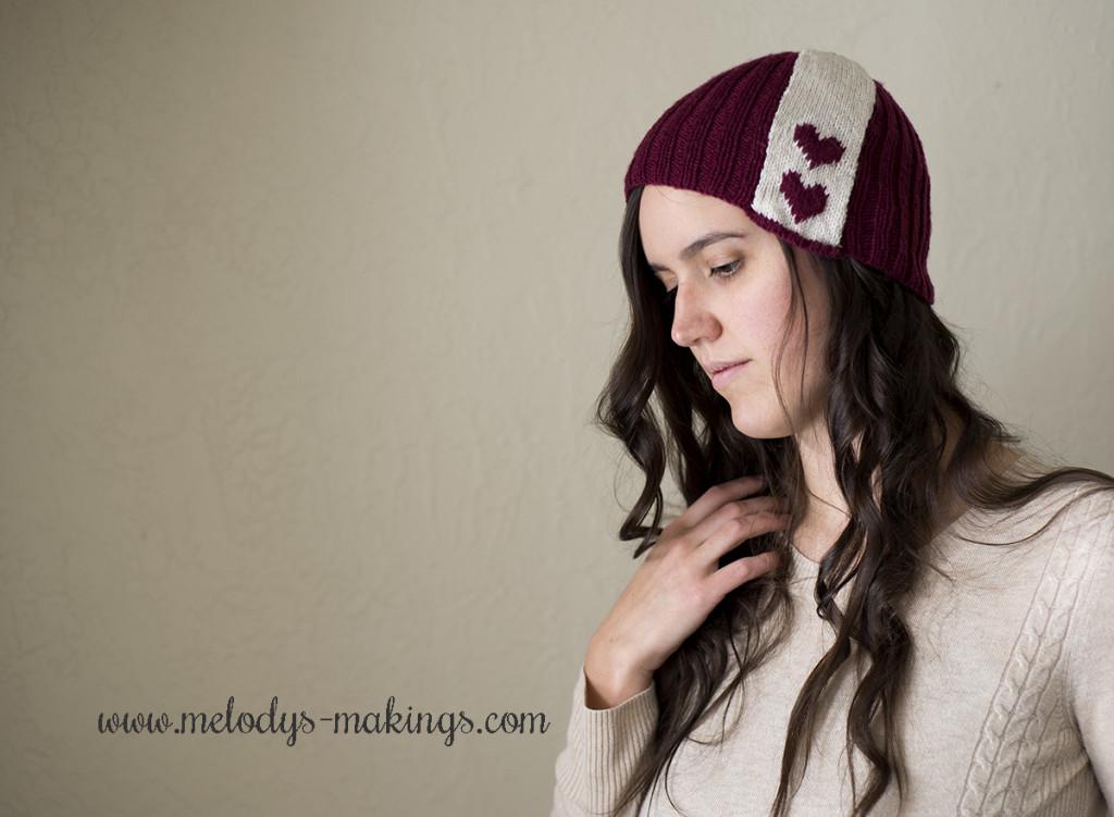 Free Valentine Day Hat Knit Pattern