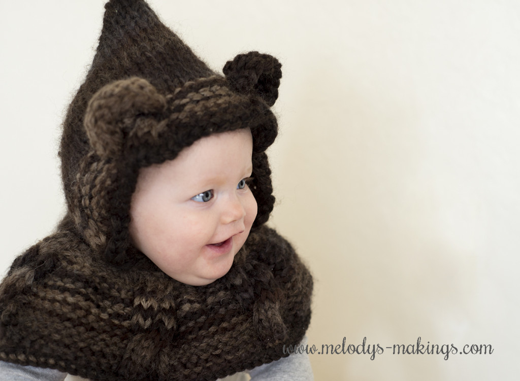 free knit hooded cowl pattern