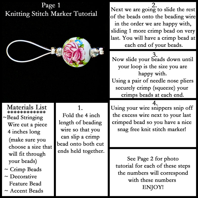 Crochet Stitch Markers How To Use : How to Make Gorgeous Stitch Markers Melodys Makings