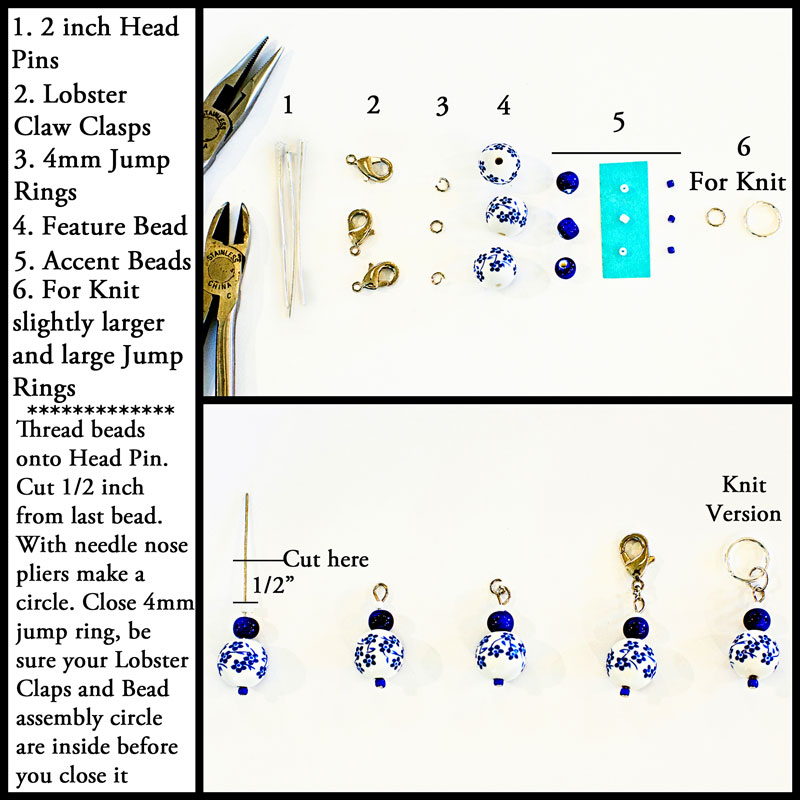Knitting Stitch Markers How To Make : How to make gorgeous stitch markers melody s makings