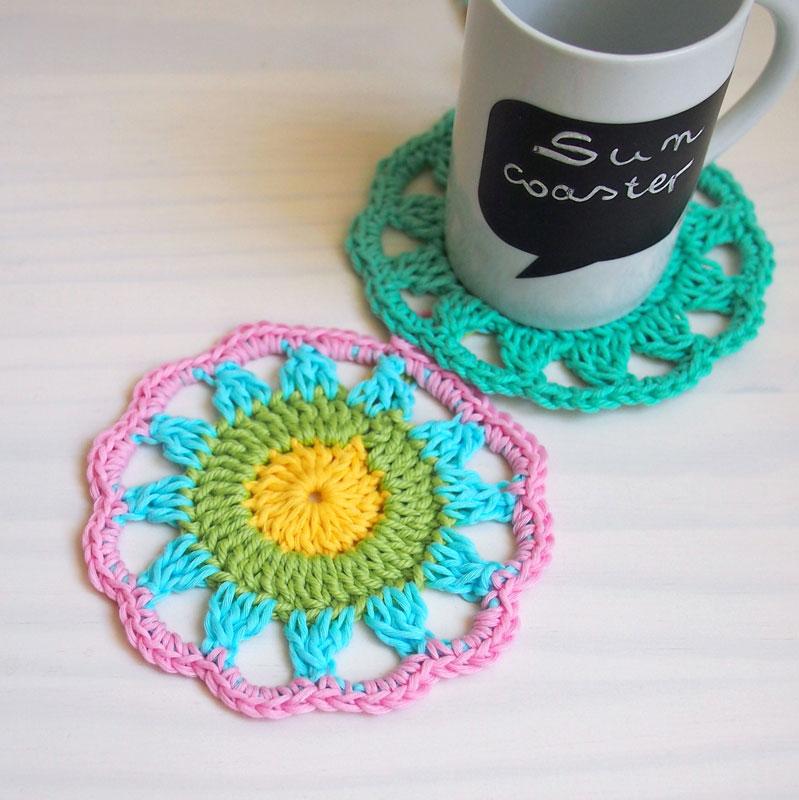 sun coaster  free crochet pattern   u22c6 melody u0026 39 s makings