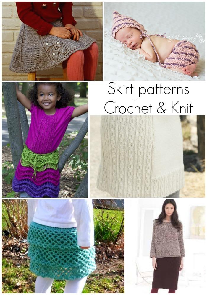 Skirt patterns - Crochet & Knit on Melody's Makings