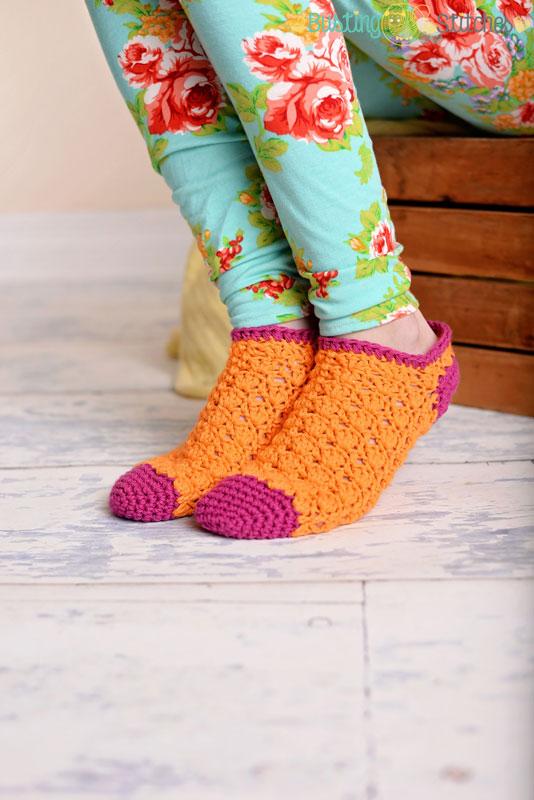 Color Pop Socks Free Crochet Pattern Melodys Makings