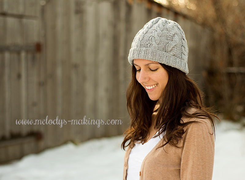 Grey Days Hat Free Knitting Pattern Melodys Makings