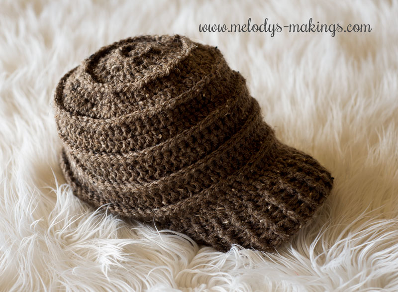 Newsboy Cap Crochet Pattern