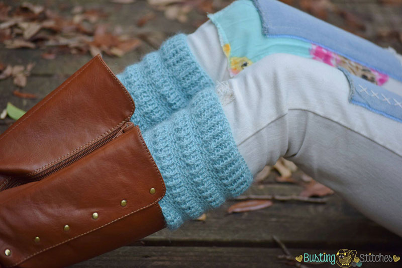 Pretty Textured Boot Cuffs {Free Crochet Pattern!} | Melody\'s Makings