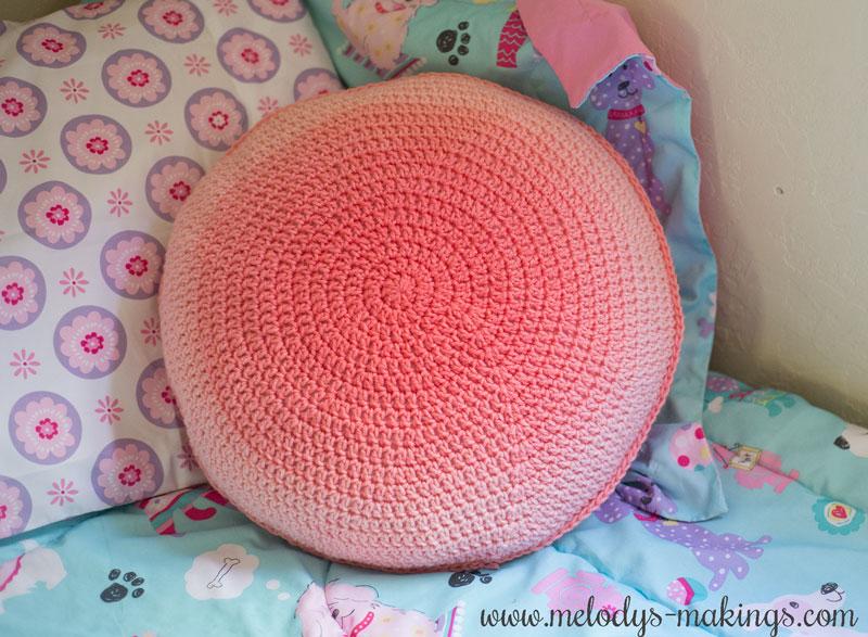 Back Side of Crochet Pillow