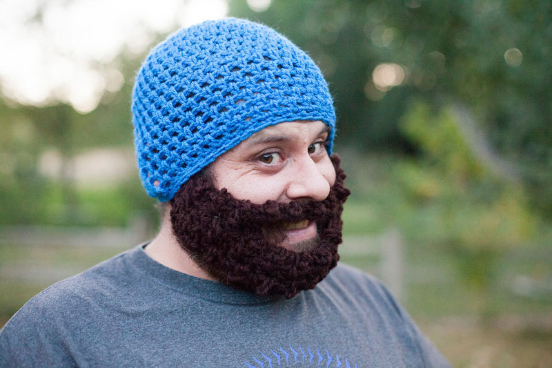 308213f7de1 Crochet Hat with Beard. Beard Hat Crochet Pattern