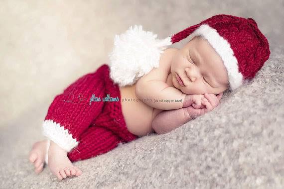 Newborn Baby santa set