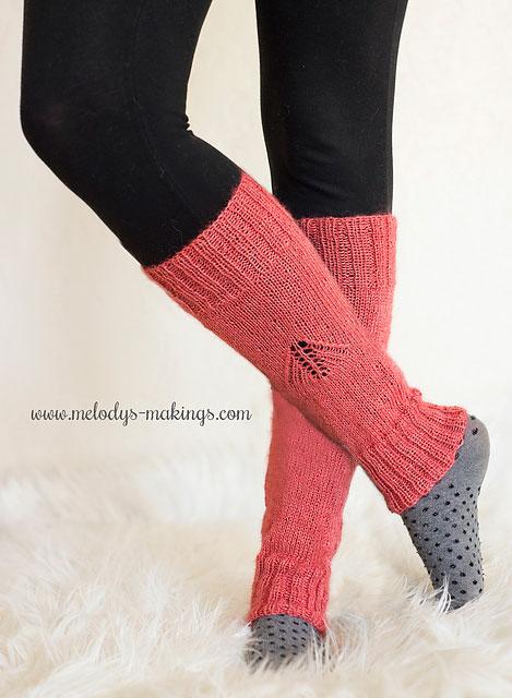 knit wisteria leg warmers