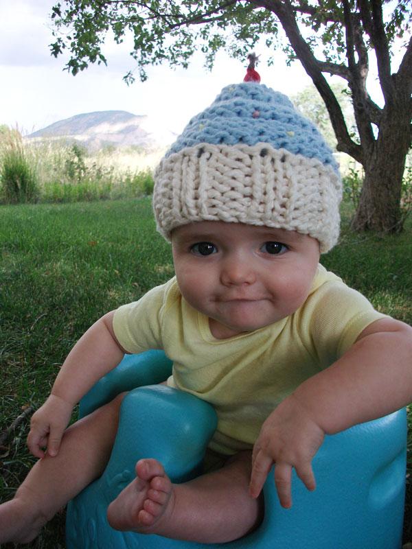 Mommas Cupcake Hat Knit Pattern Melodys Makings