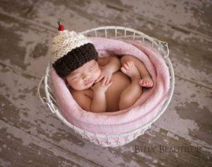 knit baby cupcake hat