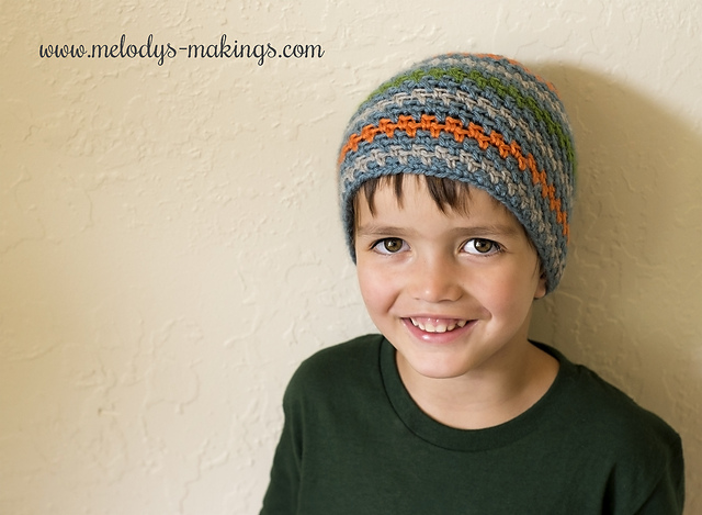 Moss Stitch crochet hat