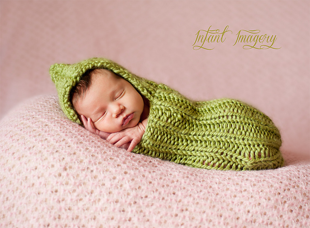 Newborn Knit Snuggle Sack