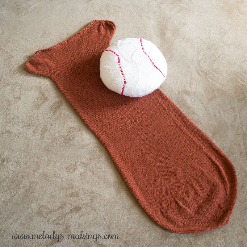 Knit Baseball Bat and Pillow