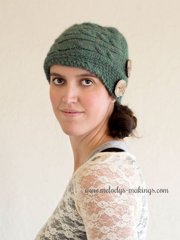 Cadence Cabled Cloche Knit Hat
